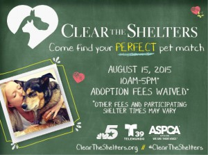 Clear The Shelters 2015