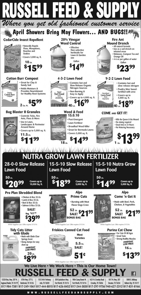 May Newspaper Ad Specials