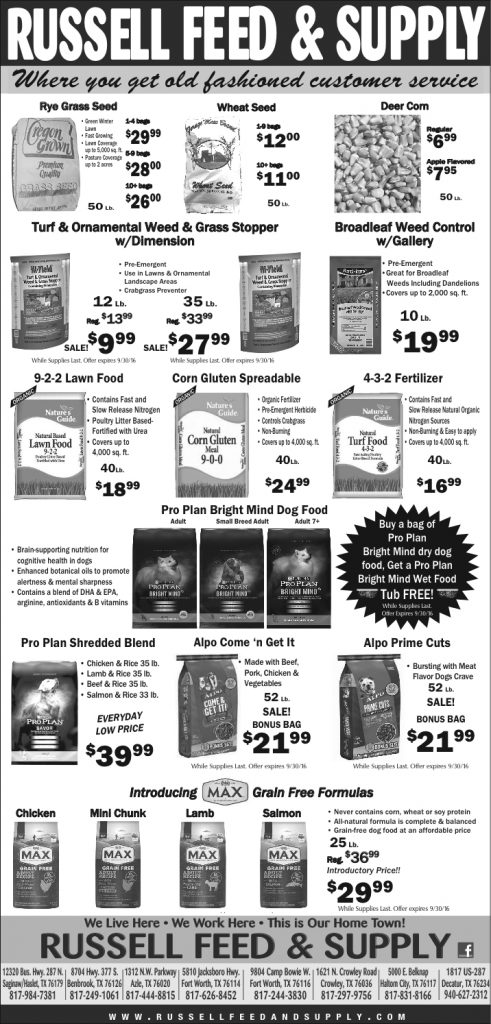 September Star Telegram Ad Specials