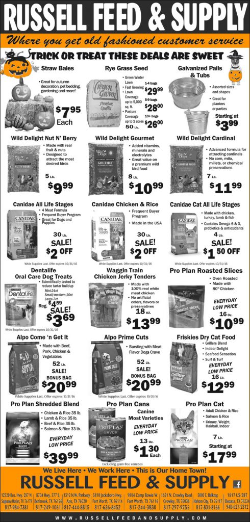 October Star Telegram Ad Specials