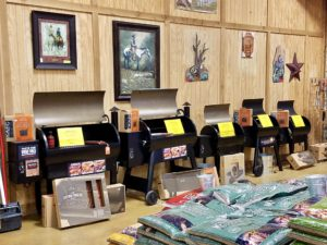 Traeger Grills at Russell Feed and Supply in Decatur, Texas