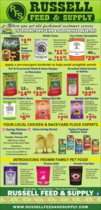 January Ad Specials at Russell Feed & Supply in Ft. Worth, Texas
