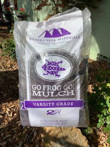 Go Frog Go Purple Mulch at Russell Feed and Supply.